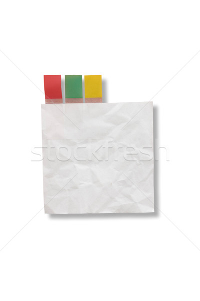 Mini blank page white paper and tag for note something and attac Stock photo © jomphong