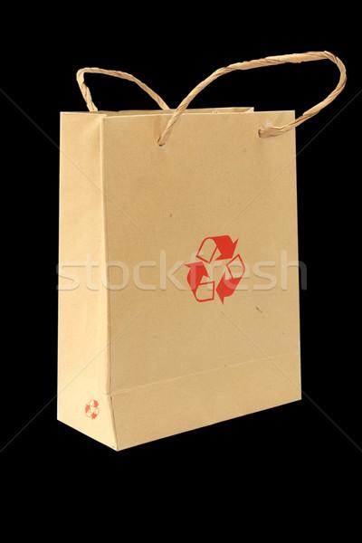 Geri dönüşüm çanta dizayn alışveriş imzalamak hediye Stok fotoğraf © jomphong