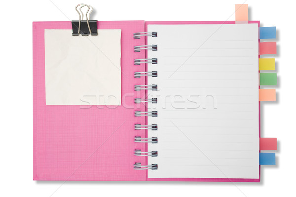 Blank page notebook and tag for separate2 Stock photo © jomphong