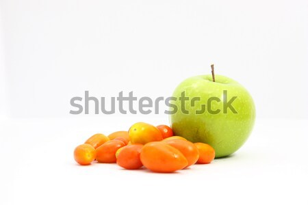 Apple green and tomato Stock photo © jomphong