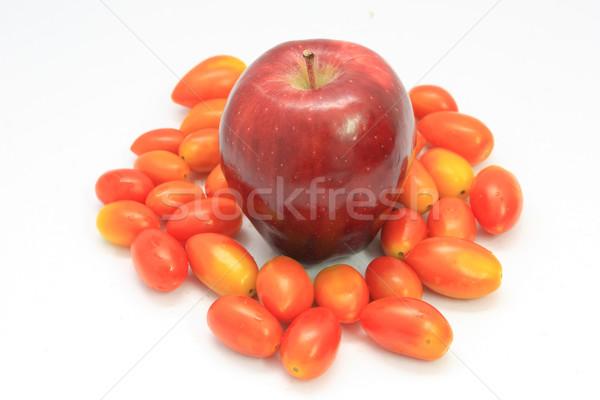 Elma kırmızı domates yaprak meyve renk Stok fotoğraf © jomphong