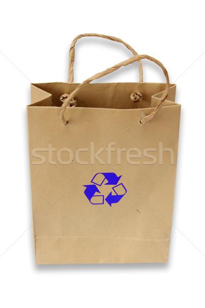 Geri dönüşüm dizayn alışveriş imzalamak çanta Stok fotoğraf © jomphong