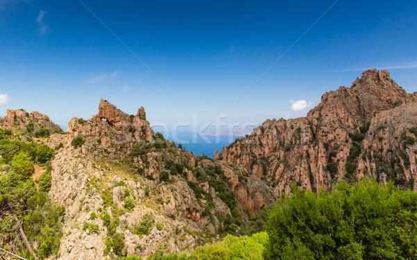 Corse ouest côte nature mer montagne Photo stock © Joningall