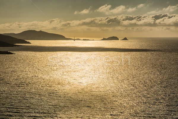 Evening sun over Ile Rousse in Corsica Stock photo © Joningall