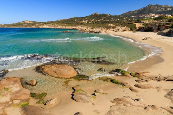 Korsika bölge gökyüzü doğa okyanus mavi Stok fotoğraf © Joningall