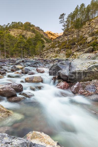 Hızlı nehir korsika yavaş panjur Stok fotoğraf © Joningall