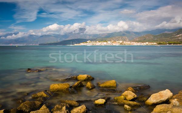 Szent északi Korzika kövek előtér sapka Stock fotó © Joningall