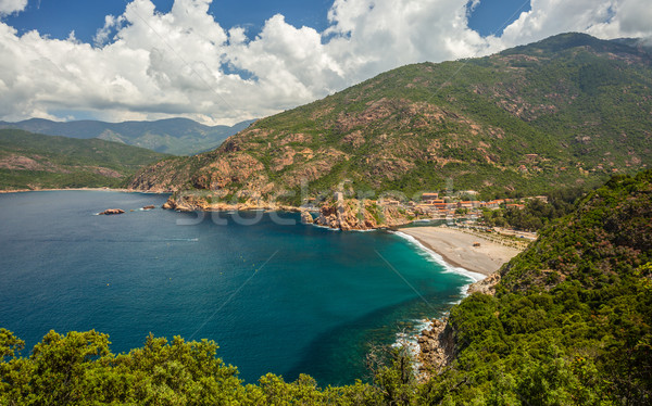 Marine de Porto on the west coast of Corsica Stock photo © Joningall