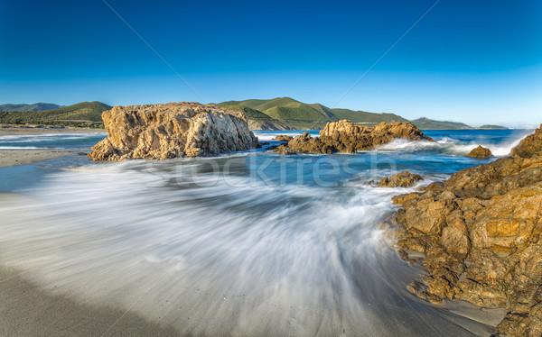 пляж Корсика пород волны регион Сток-фото © Joningall