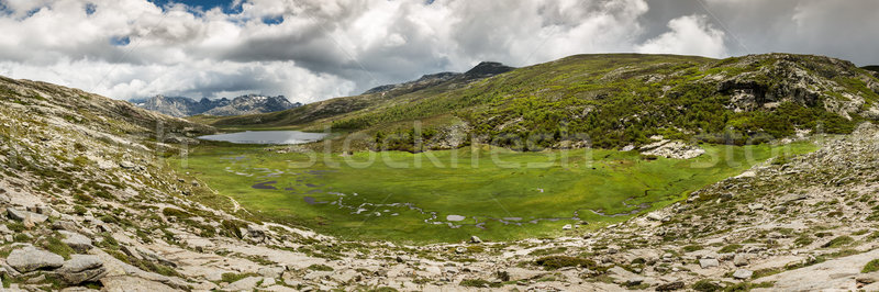 Panoramic view across Lac De Nino in Corsica Stock photo © Joningall