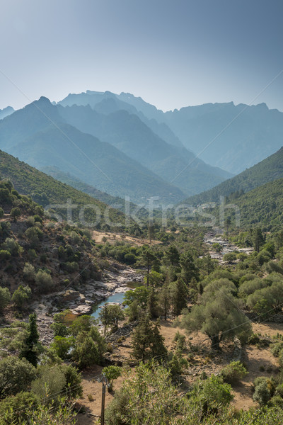 Fango valley in Corsica with mountains in background Stock photo © Joningall