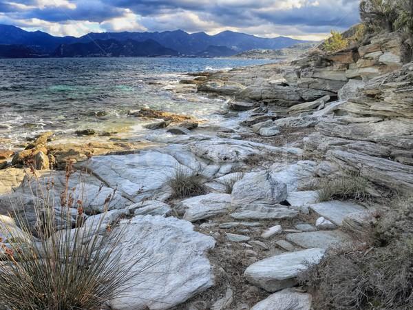 Rocks and shoreline, Corsica Stock photo © Joningall