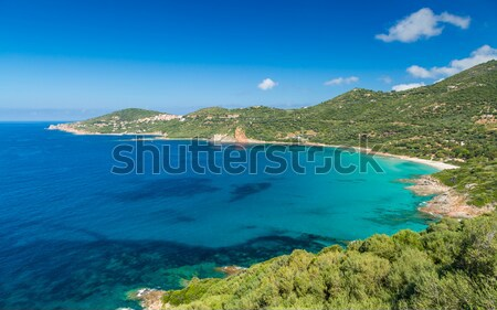 Beach an harbour at Giottani on Cap Corse in Corsica Stock photo © Joningall