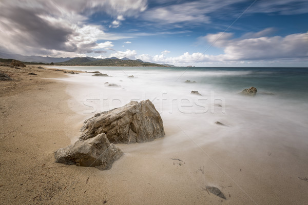 Lozari beach near Ile Rousse in Corsica Stock photo © Joningall
