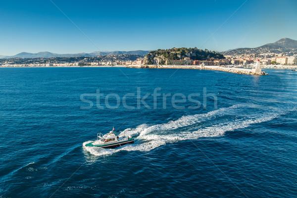 Pilot boat leaving Nice harbour Stock photo © Joningall