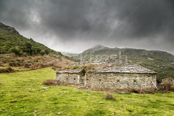 Hielo tienda colinas córcega almacenamiento Foto stock © Joningall