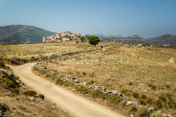 Village of Sant'Antonino in Balagne region of Corsica Stock photo © Joningall