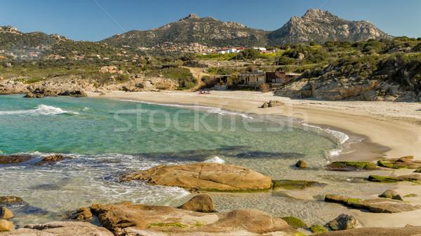 Korzika régió égbolt természet óceán kék Stock fotó © Joningall