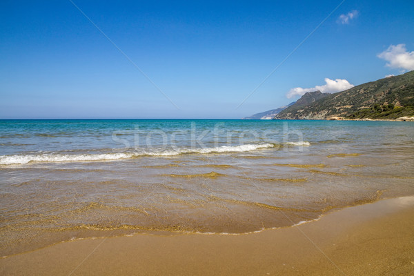 Farinole beach on Cap Corse in Corsica Stock photo © Joningall