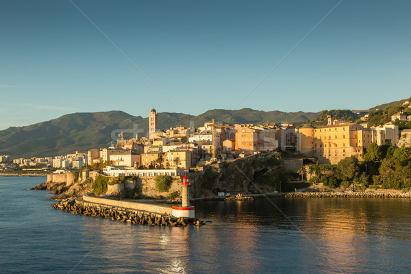 The town, citadel and harbour at Bastia in Corsica Stock photo © Joningall