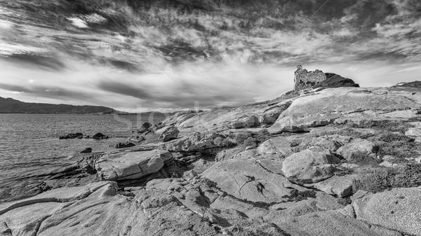 Сток-фото: башни · Корсика · Средиземное · море · пород · регион · пляж