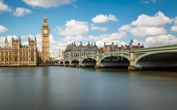 Big Ben thames westminster pont maisons parlement Photo stock © Joningall