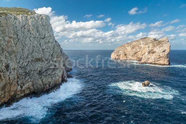 Isola Foradada near Alghero in Sardinia Stock photo © Joningall