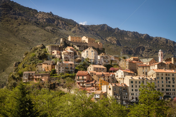 Corte citadel in Corsica Stock photo © Joningall