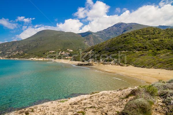 Сток-фото: пляж · Cap · Корсика · воды · облака · морем