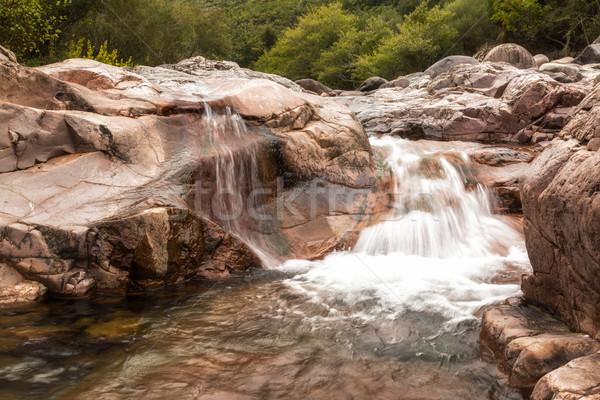 Vízesés völgy Korzika kövek folyó északi Stock fotó © Joningall