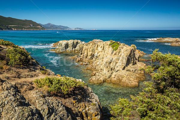 Part Korzika sivatag tengerpart észak víz Stock fotó © Joningall