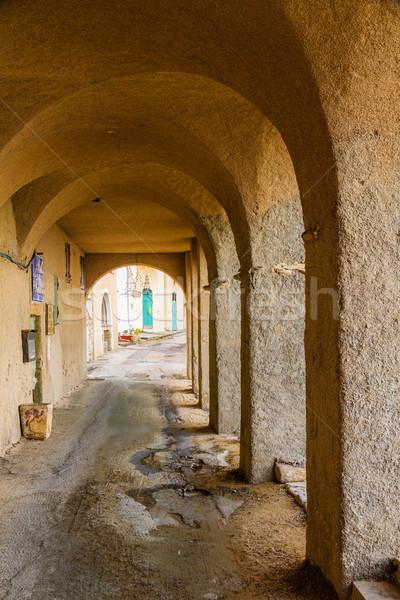 Korzika tengerpart régió ház épület fal Stock fotó © Joningall