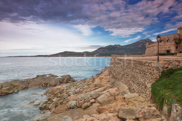 The coastline at Algajola, Corsica Stock photo © Joningall