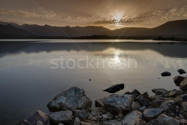 Völgy Korzika naplemente régió hegyek hegy Stock fotó © Joningall