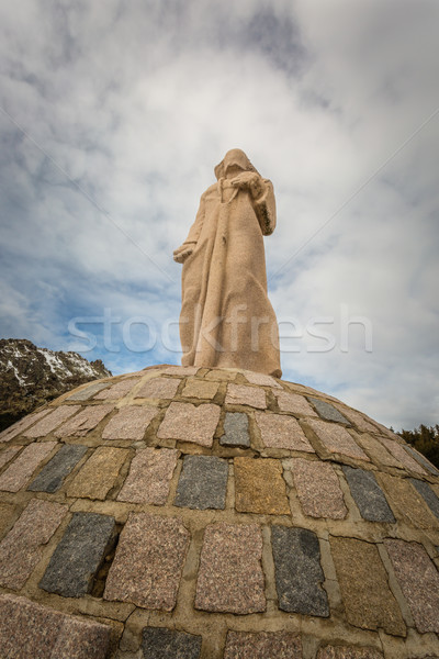 Statue at Col de Vergio in Corsica Stock photo © Joningall