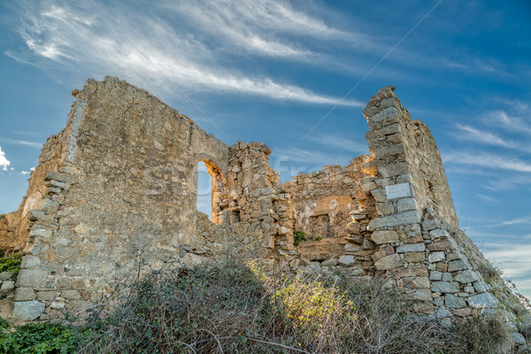 Abandoned village of Occi near Lumio in Corsica Stock photo © Joningall