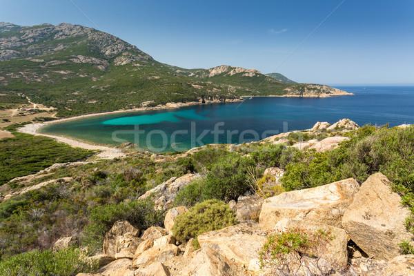 Côte corse turquoise mer Photo stock © Joningall
