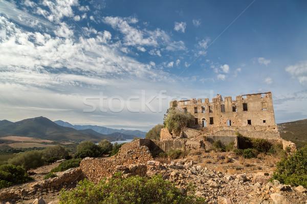Chateau of Pierre-Napoleon Bonaparte between Calvi and Galeria i Stock photo © Joningall