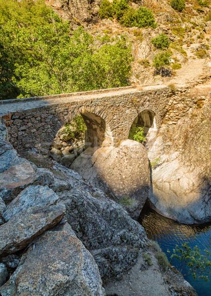 моста Корсика тропе центральный воды Сток-фото © Joningall