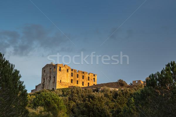 Rom Korzika ősi nyugat költség égbolt Stock fotó © Joningall