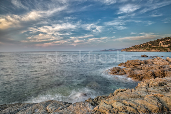 Coast of Balagne region of Corsica Stock photo © Joningall