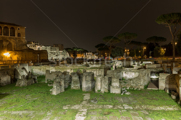 Roman ruins of Foro Traiano in Rome, Italy Stock photo © Joningall