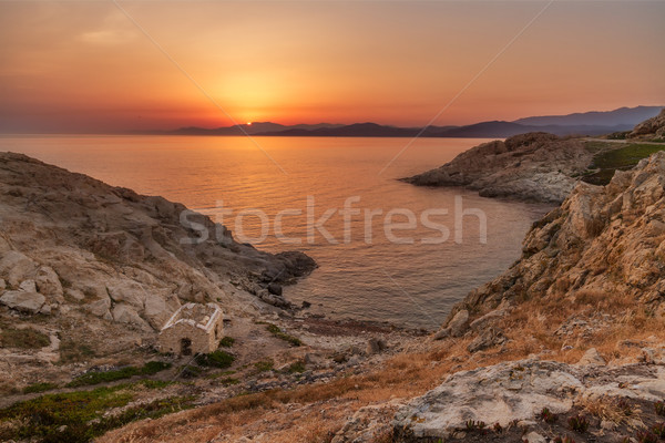 Sunrise at Ile Rousse in Corsica Stock photo © Joningall