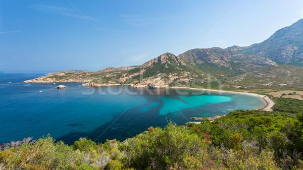 Costa córcega turquesa mediterráneo mar Foto stock © Joningall