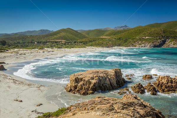 Plage nord corse région eau paysage Photo stock © Joningall