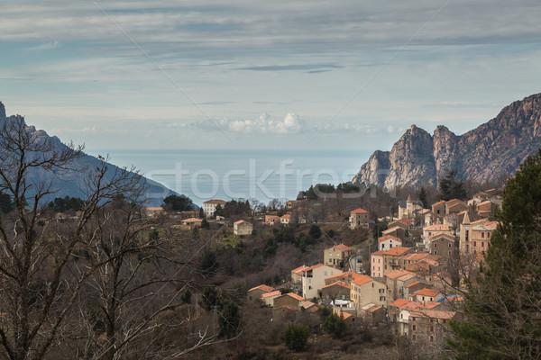Корсика гор морем за города Средиземное море Сток-фото © Joningall