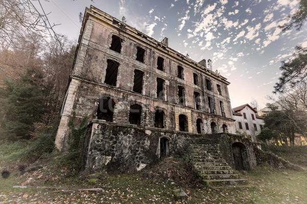 ホテル コルシカ島 捨てられた 家 石 ストックフォト © Joningall