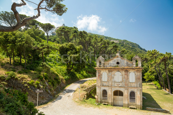 Chapel Santa Lucia on Cap Corse in Corsica Stock photo © Joningall
