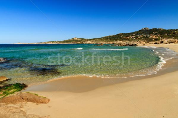 Plage de Petra Muna,  near Calvi in Corsica Stock photo © Joningall