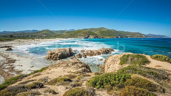 Costa córcega playa desierto norte agua Foto stock © Joningall